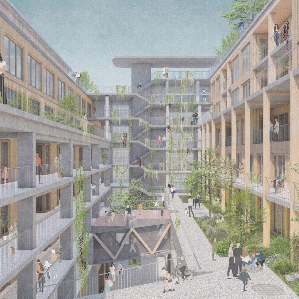 Gewinnerentwurf_Groeninger-Hof_Duplex_Visualisierung_Innenhof