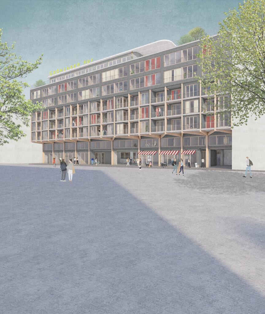 Gewinnerentwurf_Groeninger-Hof_Duplex_Visualisierung_Straße